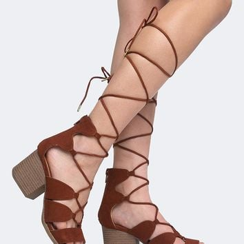 Melly Lace Up Heels