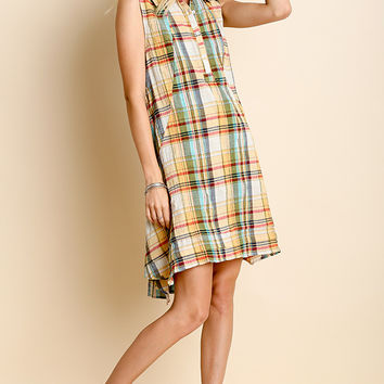 Sandspur Beach Plaid Dress