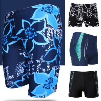 Swimwear Men Swim Trunks Mens Swimming Shorts Men's Swimsuit Beachwear Bathing Suit Long Swimming Trunks Boxer Brief