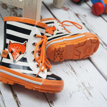 Child's Fox Wellington Boots