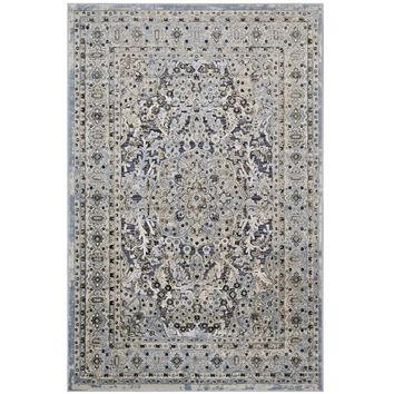 Elqenna Ornate Vintage Floral Turkish 8x10 Area Rug