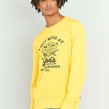 Levis Records Solar Yellow Crewneck Sweatshirt - Urban Outfitters