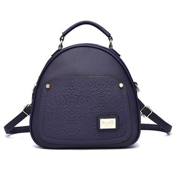 Student Backpack Children 2016 New European and American fashion backpack leisure women students backpack AT_49_3