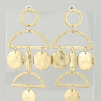 "3"" geo shape earrings"