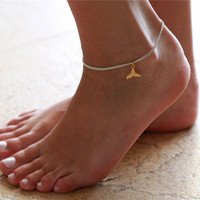 Ladies Cute Shiny Gift New Arrival Jewelry Double-layered Summer Sea Mermaid Pendant Stylish Sexy Accessory Anklet [6768756935]
