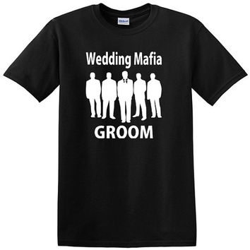 Wedding Mafia Bachelor Party T-Shirts, wedding party, groomsmen, groom, best man, buy one or a set
