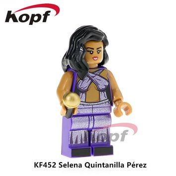 KF452 Super Heroes Selena Quintanilla Perez Grunge Icon Donald Trump Popeye Building Blocks Doll Learning For Children Gift Toys