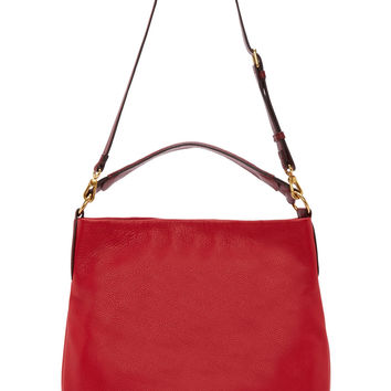 Marc By Marc Jacobs Red Grained Leather Hillier Hobo Bag