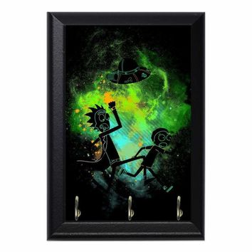 Rick Morty Art Decorative Wall Plaque Key Holder Hanger