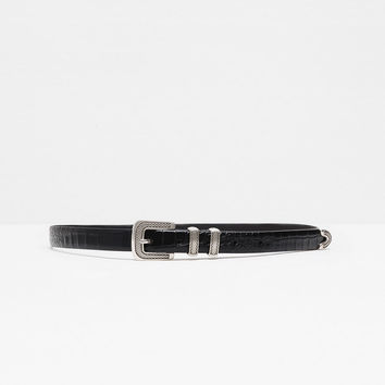 SPECIAL LEATHER BELT WITH BUCKLE