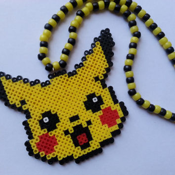 Pikachu Kandi Necklace//pokemon kandi necklace//pikachu