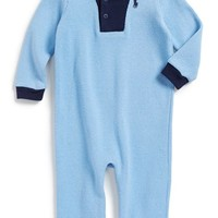 Infant Boy's Ralph Lauren Long Sleeve Cotton Romper,