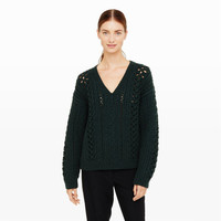Maritza Open-Knit Sweater
