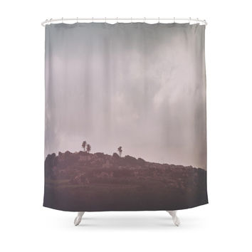 Society6 Palm Tree Hill Shower Curtain