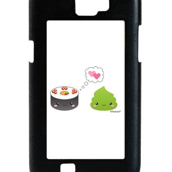 Cute Sushi and Wasabi Love Galaxy Note 2 Case  by TooLoud