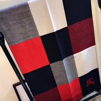Burberry Women Fashion Tartan Cashmere Warm Cape Scarf Scarves