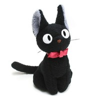 "Kiki's Delivery Service 5.5"" Tall Kiki's Black Cat Jiji Stuffed Doll (Up Right)"