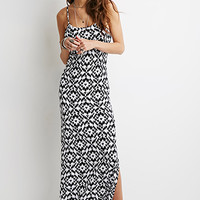 Abstract Tribal Print Maxi Dress