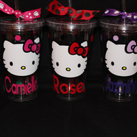 16 oz hello kitty personalized acrylic tumbler by jaylillie