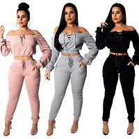 Long Sleeve Knitted Tracksuit