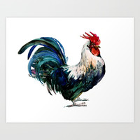 Rooster Art Print by sureart