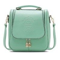 Veewon Fashion Classic Designer Inspired Women Shoulder Bag Crossbody bag Backpack bags - Mint Green