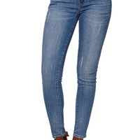 Bullhead Denim Co Low Rise Skinniest Sunrise Indigo Jeans - Womens Jeans - Blue
