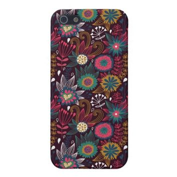Colorful Modern Floral Pattern Apple iPhone 5 Case