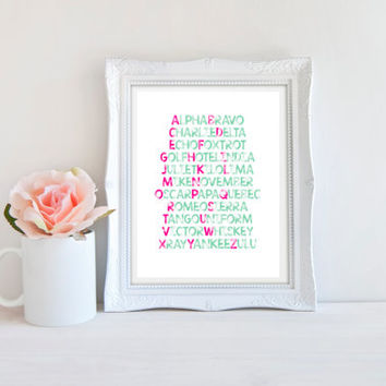 Phonetic Alphabet Print - Printable