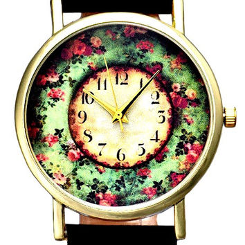 Wreath Floral Theme Unisex Wrist Watch-Buy One Get One Free Limited Time Offer