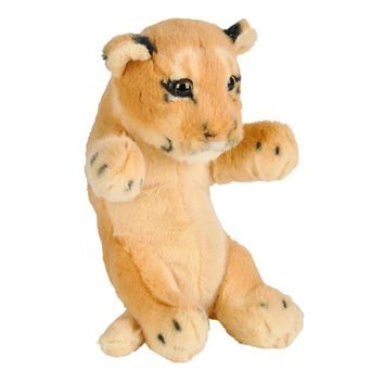 8 Inch Small Baby Cougar or Lion Cub Stuffed Animal Plush Floppy Zoo Safari Cubs Collection