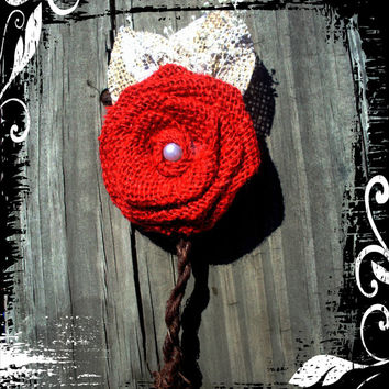 Rustic boutonniere set of 6 you choose color burlap boutonniere rustic button hole wedding accessories grooms accessories