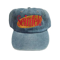 Rock Hard Vintage Seinfeld Dad Hat In Denim