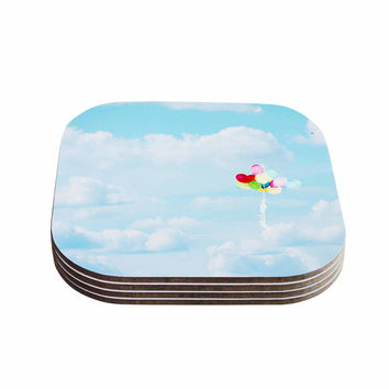 "Sylvia Coomes ""Balloons in the Sky"" Photography Kids Coasters (Set of 4)"