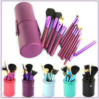Convenient Professional 12pcs Makeup Brushes Set Cosmetic Tool Beauty Womens Gift 03