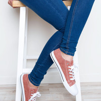 Kendall Sneakers - Mauve Suede