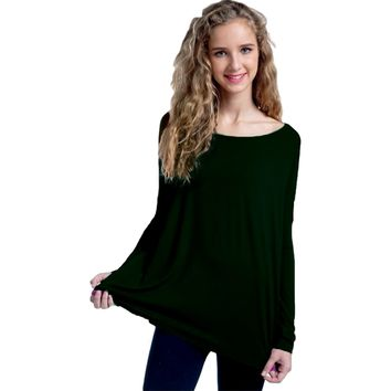 Authentic Piko Long Sleeve Top, Forest Green