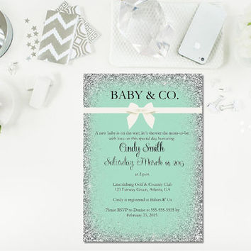 Baby and Co baby shower/ Baby Shower Invitation/ Printable Baby Shower/ Printable baby shower invite/ Printable invitation