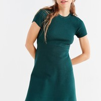 UO Scoopneck Ribbed Knit Mix Sweater Dress | Urban Outfitters
