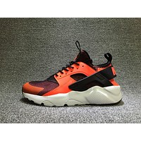 Nike AIR HUARACHE RUN PRM Black White Orange