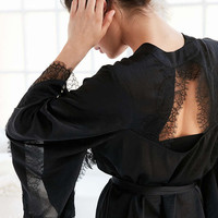 BOG Collective Lace Trim Satin Robe - Urban Outfitters