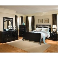 Standard Furniture Madera 5 Piece Sleigh Bedroom Set in Black