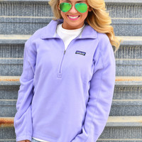 Patagonia Women's Micro D Quarter Zip Fleece- Ploy Purple
