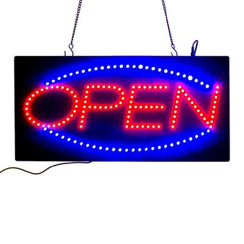 Neon Lights LED Animated Open Sign Customers Attractive Sign Store Shop Sign  +On/Off Switch Bright Light neon