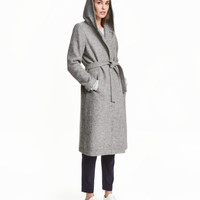 H&M Hooded Wool-blend Coat $99
