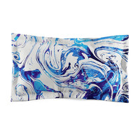 Azure Dragon Marble - Microfiber Pillow Sham