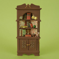 Witches Potion Corner Cabinet for Magic Spells - 1:12 or 1/12 scale Dollhouse Miniature, Rustic Style Furniture, Witch, Wizard, Halloween