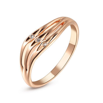 Real Italina Rigant Rings for Women Genuine Austria Crystal  18KRGP gold Plated