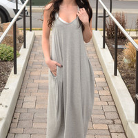 Days In The Sun Maxi Dress- Heather Grey
