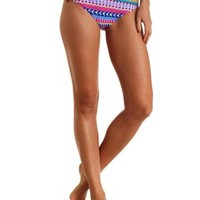 Multi Aztec Print Bikini Bottoms by Charlotte Russe